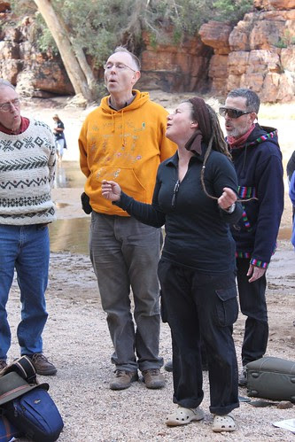 Singing at Trephina Gorge