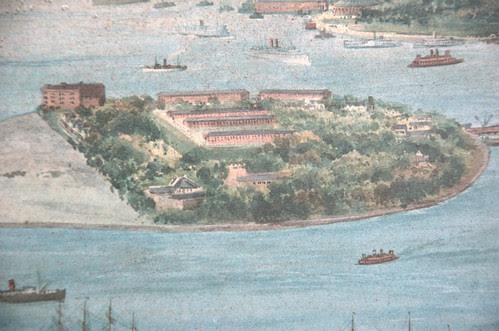 Detail, Governor's Island, New York Dock Company lithograph, Circa 1911