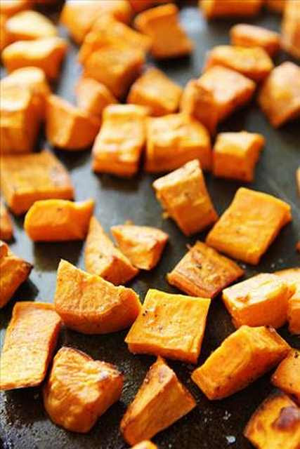 Sweet Potato in addition to Pomegranate Salad - Healthy Treat