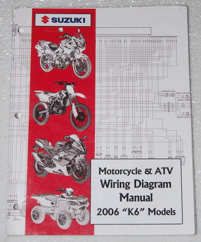 2006 SUZUKI Motorcycle ATV Wiring Diagrams Manual K6 ...