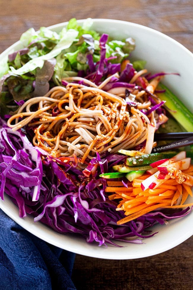 Bibim Guksu Korean Cold Noodle Salad