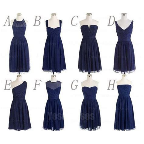 Navy bridesmaid dresses, cheap bridesmaid dresses, chiffon