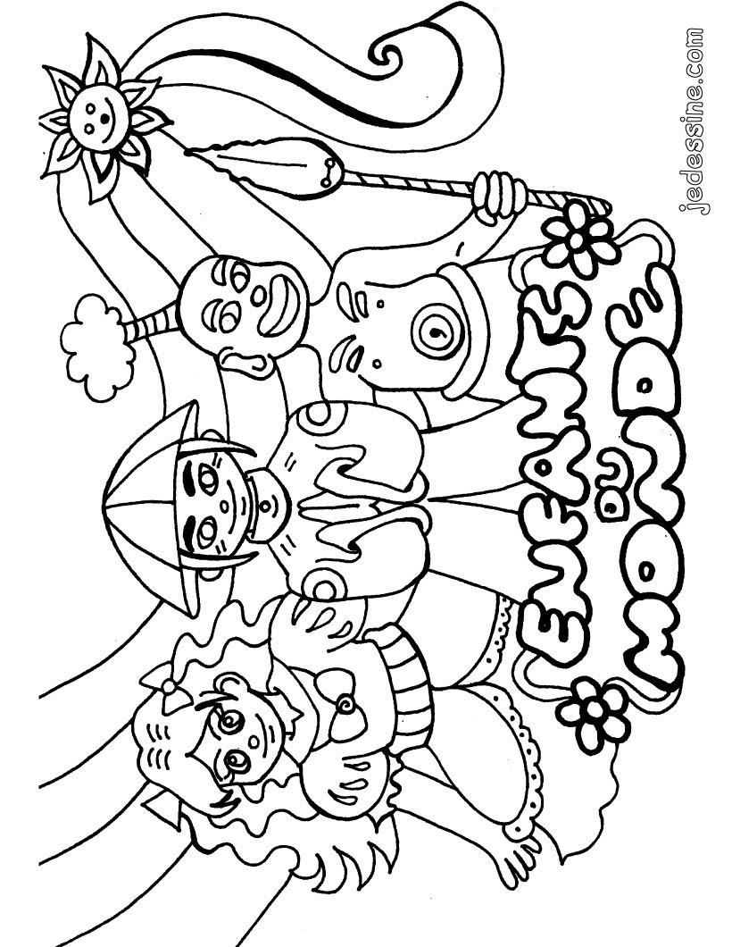 Coloriages Coloriage Des Enfants Du Monde Frhellokidscom