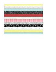 4 A2 card size bold Christmas stripes (bold)