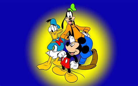 goofy mickey mouse  donald duck famous characters walt