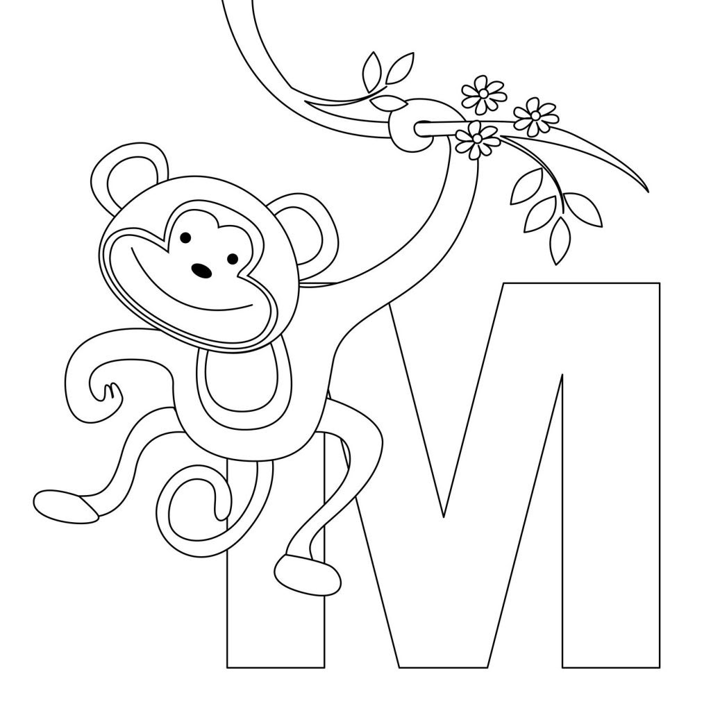 monkey printables | free monkey coloring pages printable ... | 1024x1024