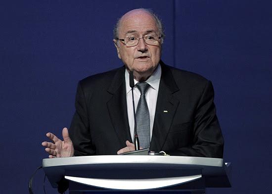 O presidente da Fifa, Joseph Blatter, em entrevista coletiva