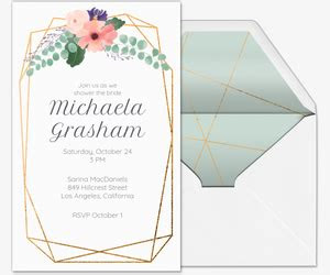 bridal shower invitations evitecom