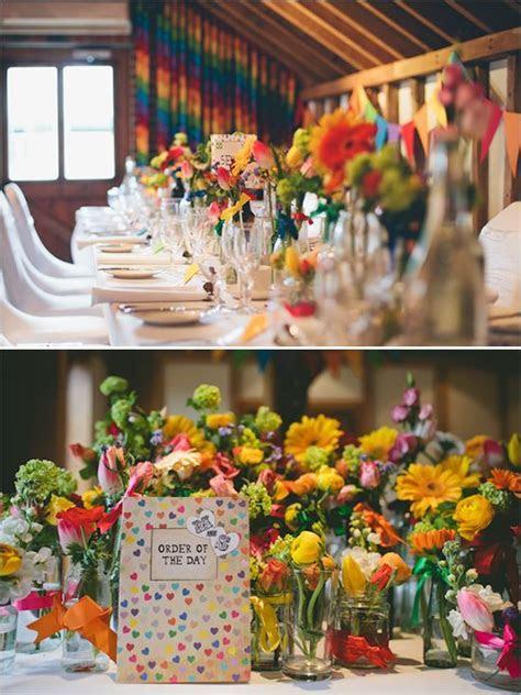 25  Best Ideas about Rainbow Wedding Centerpieces on