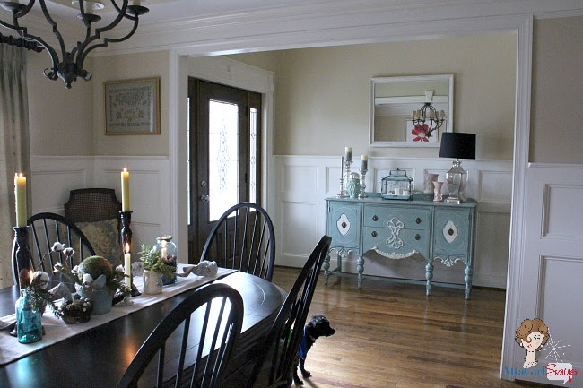 dining room and foyer winter woodlands decor