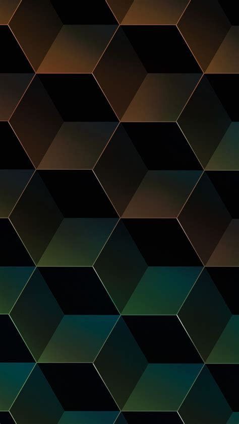 geometric gradient facets apple iphone   hd