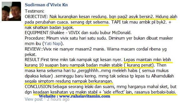 Image result for testimoni vivix resdung