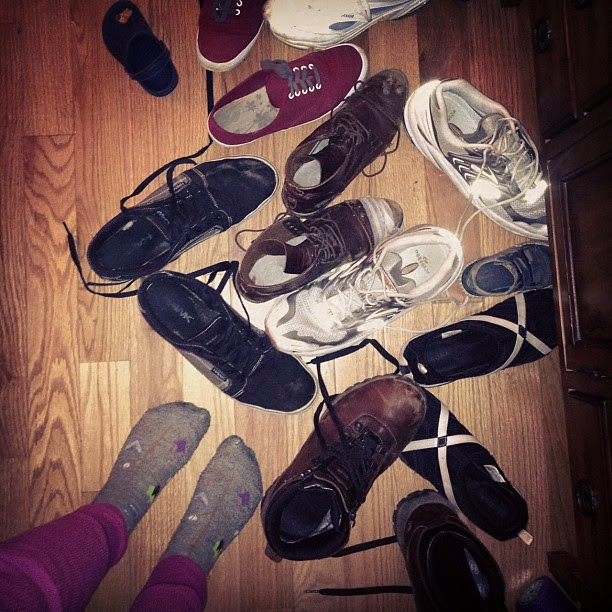 So many kicked-off shoes! #fromwhereistand