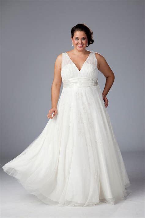 V neck plus size wedding dress. Plus Size wedding gown