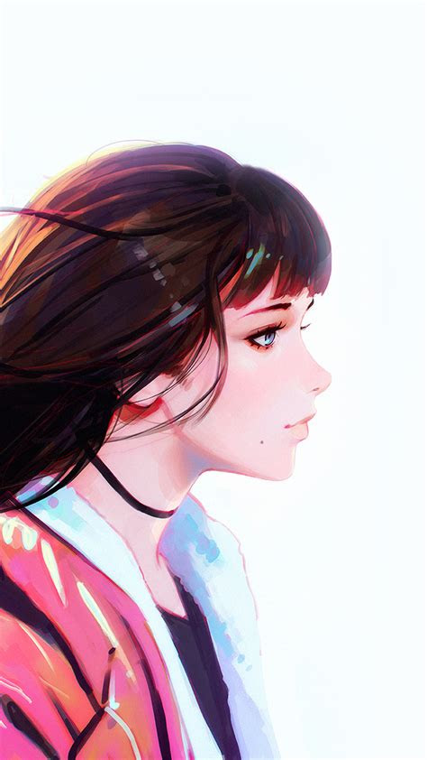 bd girl anime drawing painting ilya art illustration