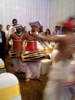 Sri Lankan drummers at the opening of ICCSE 2013.