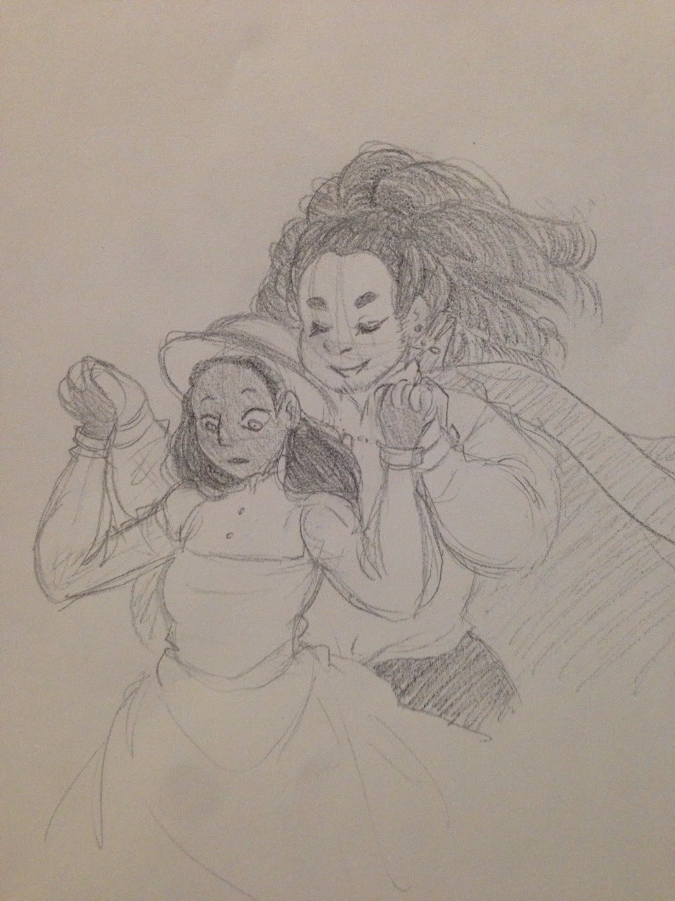 i was feeling sad, so i drew connie, then i started feeling scared and anxious, so i drew a crossover between my fav show and my fav ghibli movie