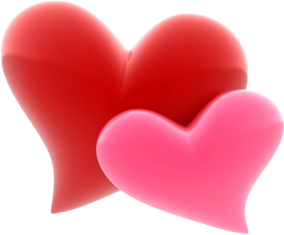 Two large hearts