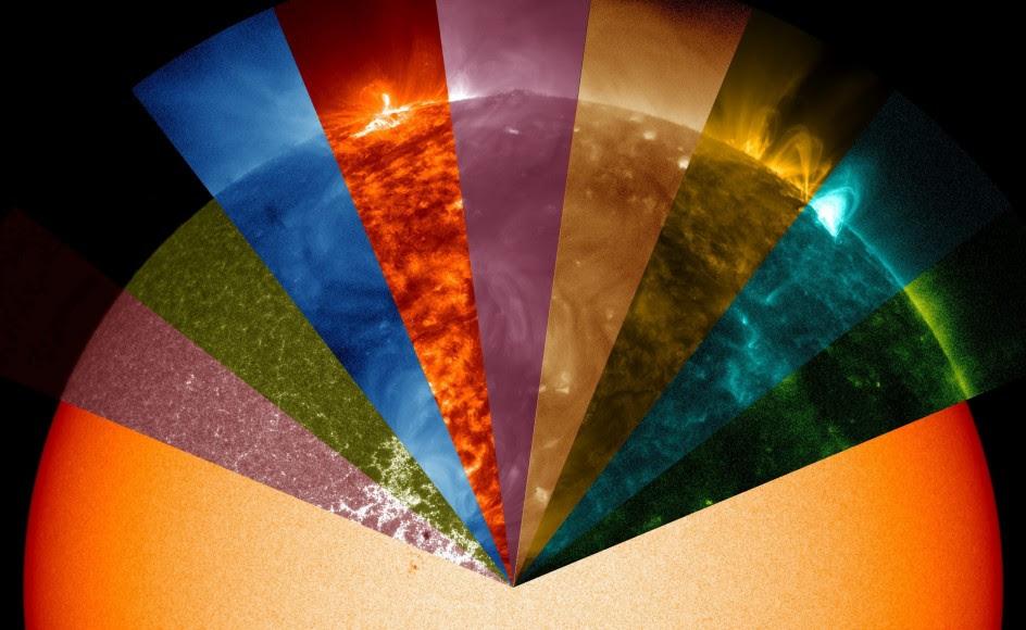 Los colores del Sol que son invisibles al ojo