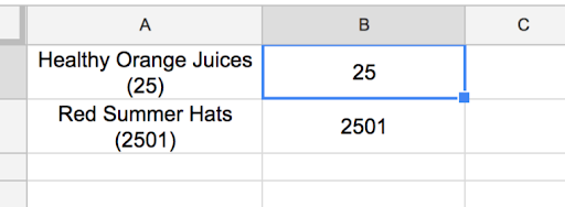 How to extract a number from a google spreadsheet cell? - Docs