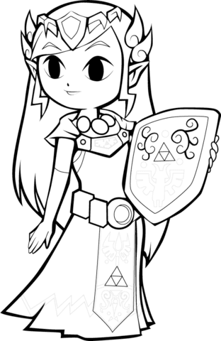 770 Zelda Coloring Pages Printable For Free