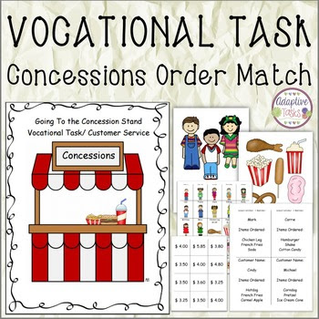 GoingTo the Concession Stand/ Vocational Task