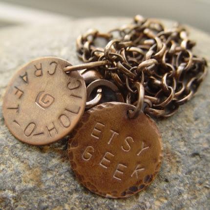 Etsy Geek, Craft-O-Holic necklace