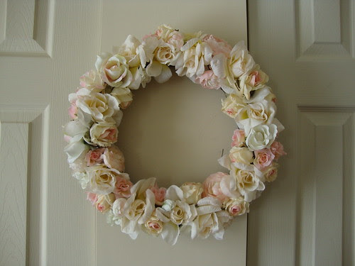 Mostly rose wreath 1/28/11