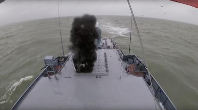 Каспийская флотилия провела итоговые в 2021 году тактические учения