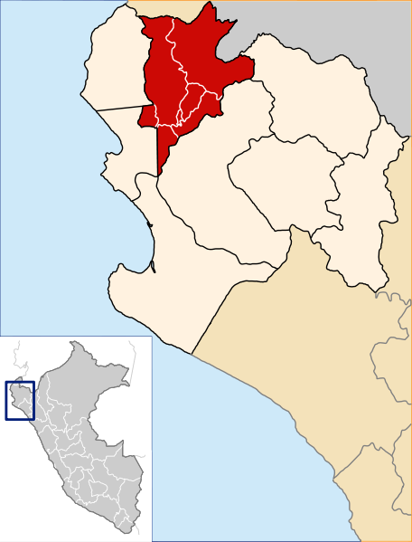 Fichier:Location of the province Sullana in Piura.svg