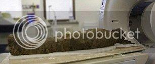 La reconstrucción 3D se realizó a partir de datos recogidos durante la TC de alta resolución de la momia.