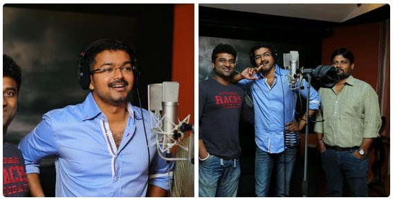 Vijay recorded a song in 'Puli'