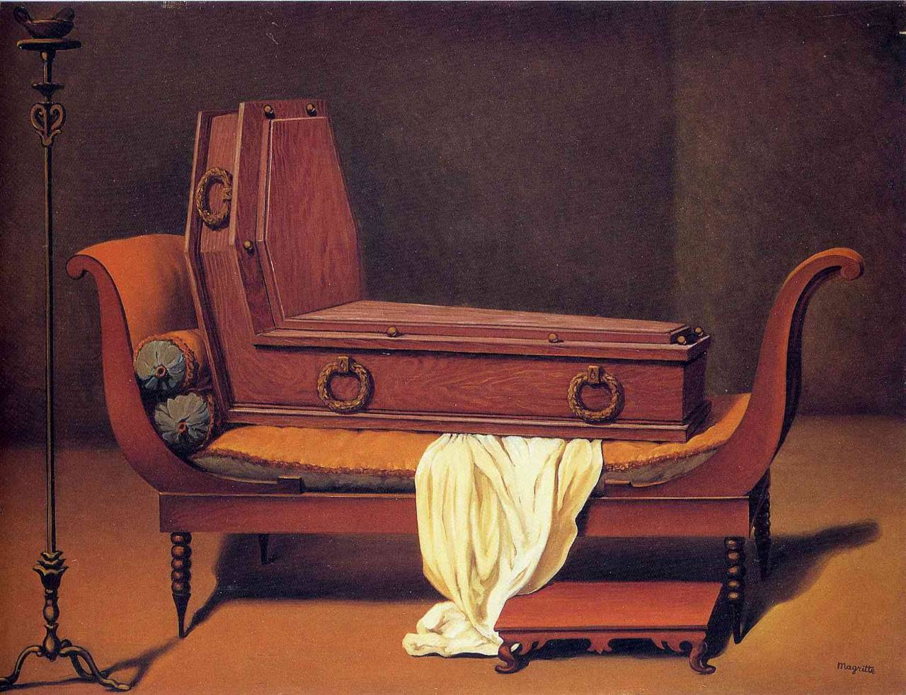 Perspective: Madame Recamier by David, 1949 Rene Magritte