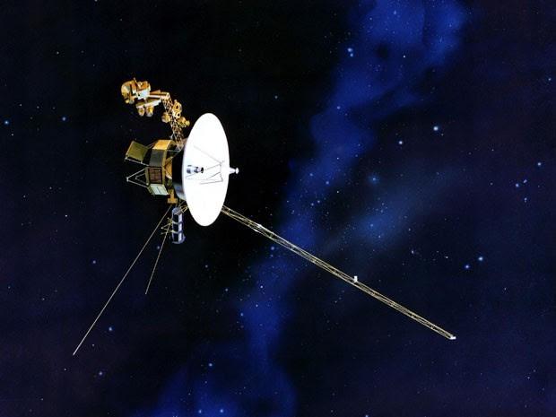 Ilustração da Voyager em sua viagem pelo Sistema Solar (Foto: AP Photo/NASA)