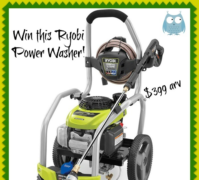 Mom Loves 2 Read Ryobi Power Washer Giveaway Event Enter