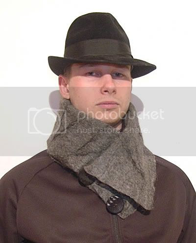 Felt scarf collar men neckwarmer