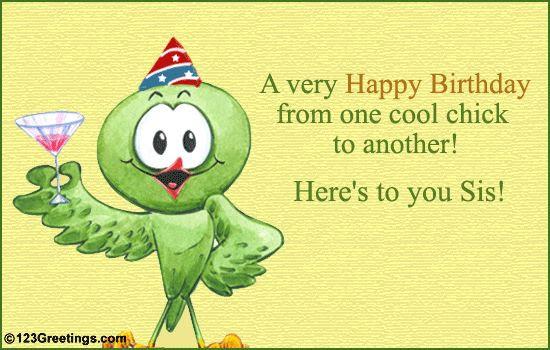 Free Clipart Happy Birthday Sister Clip Art Library