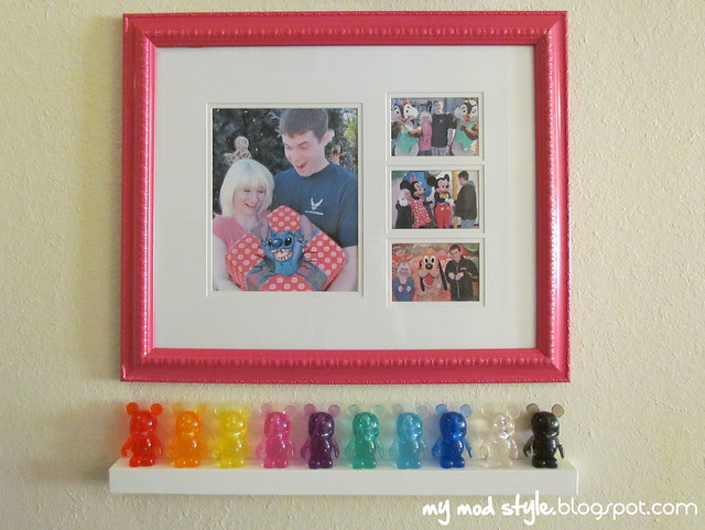 Pink Collage Frame and Vinylmations