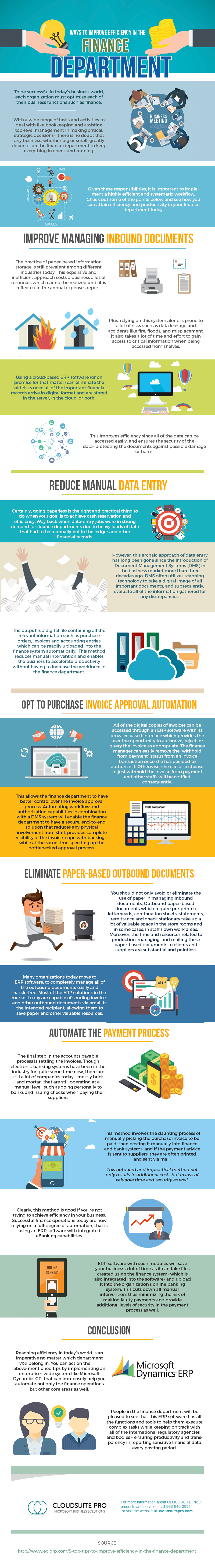 Make Finance and Accounting Department More Efficient and Productive - Infographic
