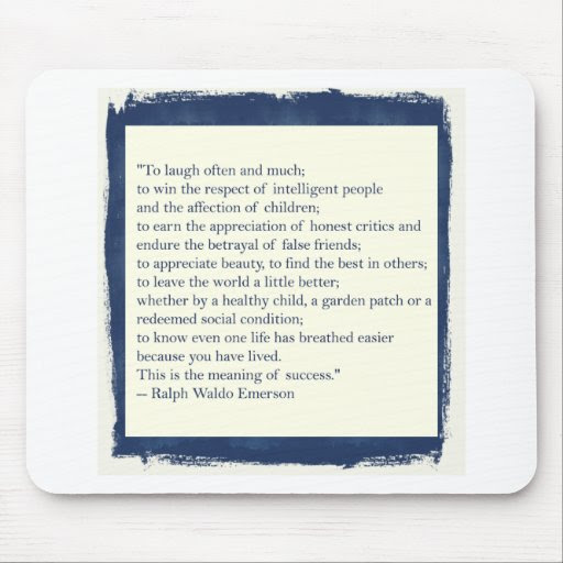 Emerson Quote Mouse Pad Zazzle