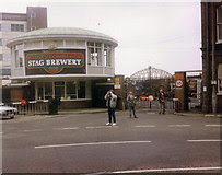 TQ2075 : Watney Combe Reid - the Stag Brewery, Mortlake 1989 by Stephen Williams