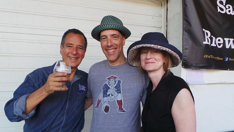 Jim Koch with Steve and Carol Garfield at Samual Adams Brewlywed Ale 2013 Release