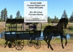 Covered Wagon and Horse Silhouette Yard Art Woodworking Pattern - fee plans from WoodworkersWorkshop® Online Store - rodeos,pioneer days,western,covered wagons,horses,yard art,painting wood crafts,drawings,plywood,plywoodworking plans,woodworkers projects,workshop blueprints