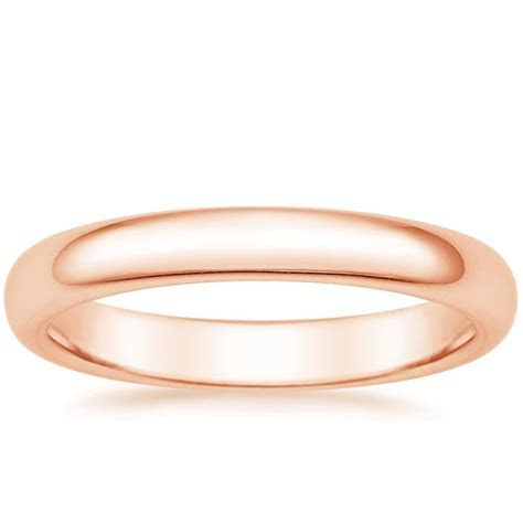 3mm Comfort Fit Women's Wedding Ring in 14K Rose Gold