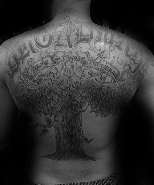 60 Family Tree Tattoo Designs For Men Kinship Ink Ideas