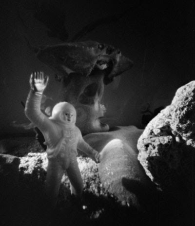 photo of spaceman in The Quiet Parlor of the Fishes