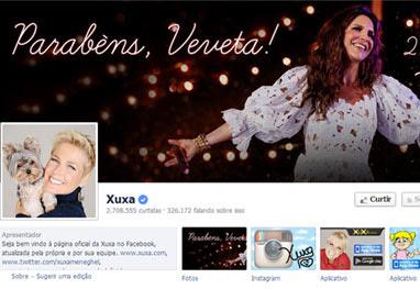 Xuxa decora fanpage com homenagem a Ivete Sangalo - Reprodução