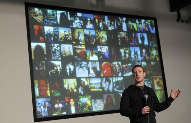 Mark Zuckerberg fala sobre a nova ferramenta de buscas do Facebook (Foto: Robert Galbraith/Reuters)