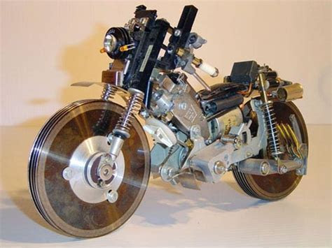 Upcycled Computer Parts Motorcycle Sculpture » Funny