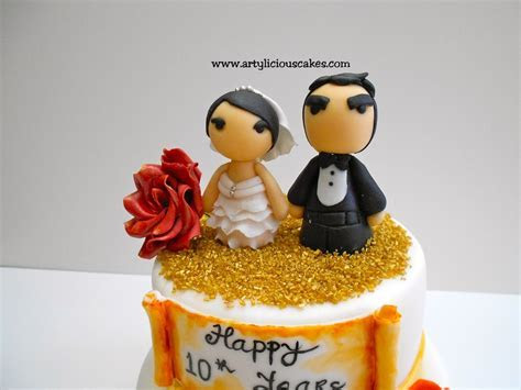 10 Years Wedding Anniversary   CakeCentral.com